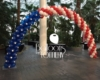 Veterans Day flag balloon arch at Navy Pier - Balloons by Tommy