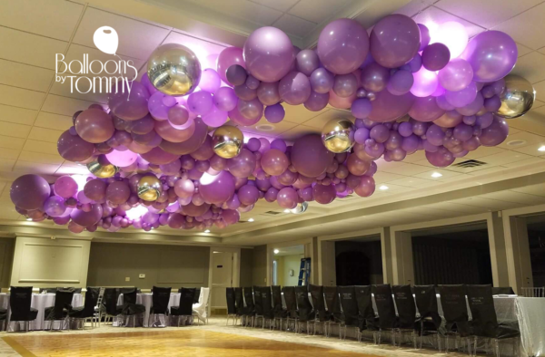Bat Mitzvah purple organic balloon garland - Balloons by Tommy