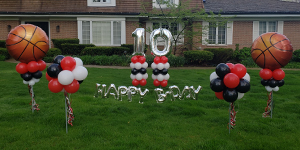 Sports Birthday Yard Decor - Balloons by Tommy
